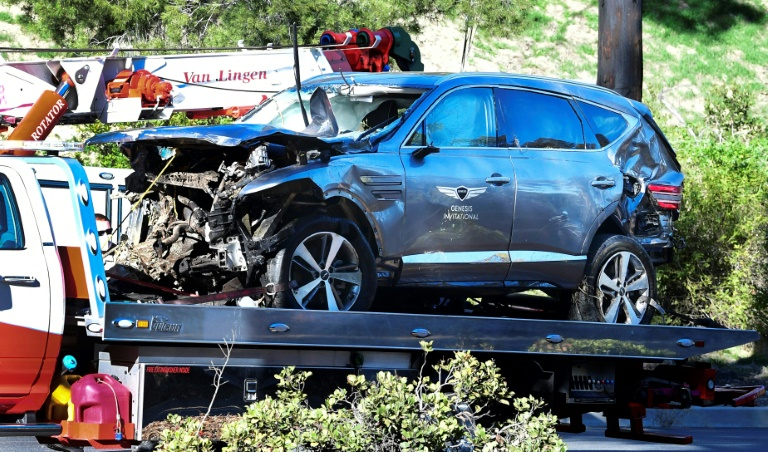 Tiger Woods's crash occurred on a steep stretch of road known as an accident hotspot