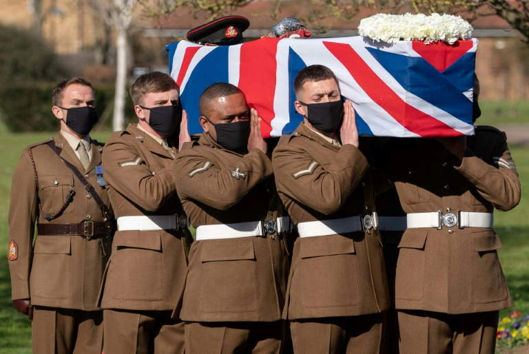 Tom Moore's funeral was shown live on national television and he was honoured with a flypast of a World War II plane