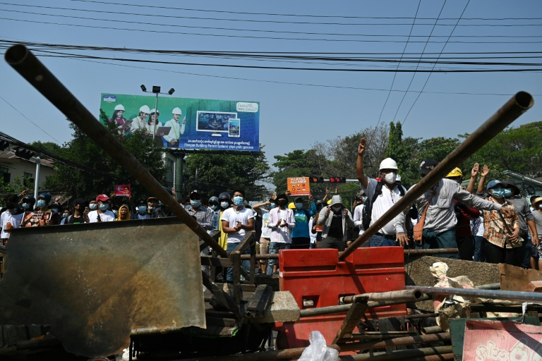 Myanmar forces disperse rallies with 3 reported dead