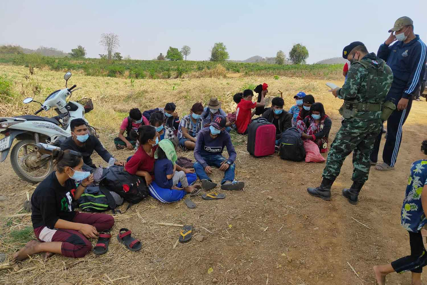 Two groups caught entering from Myanmar