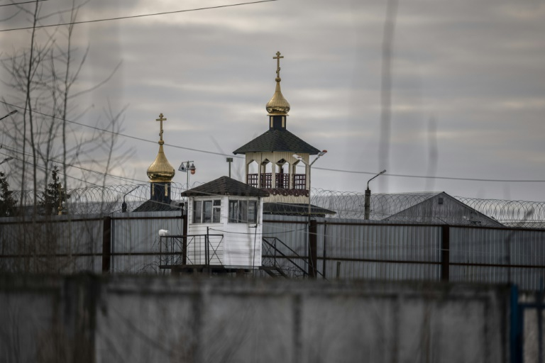 A view of an Orthodox church on the grounds of the penal colony N2, where Kremlin critic Alexei Navalny has been transferred to serve a two-and-a-half year prison term for violating parole, in the town of Pokrov on Monday.