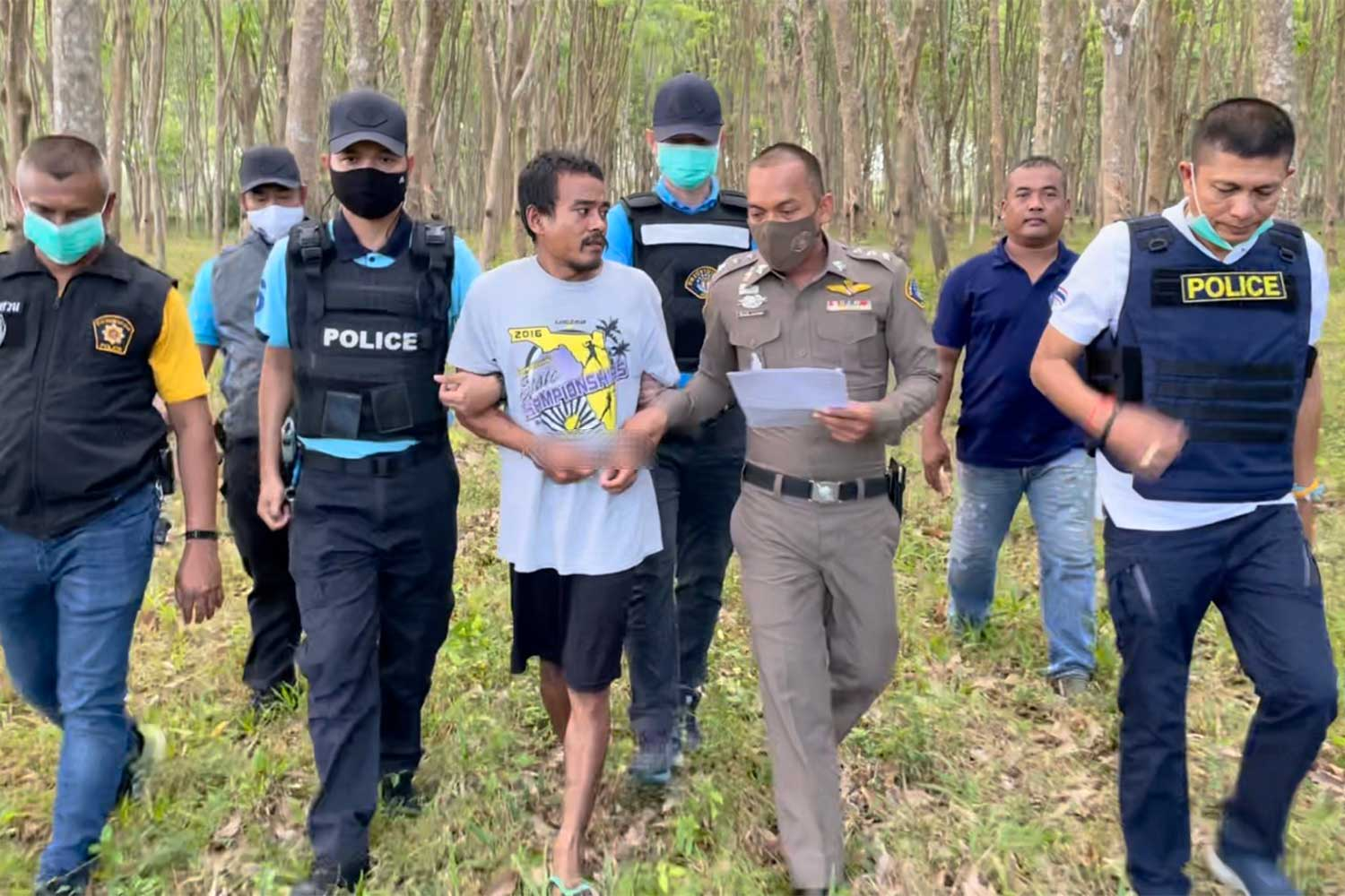 Three men caught for murder in Surat Thani