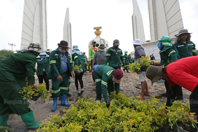 Activist charged B6m for removing plants at Democracy Monument