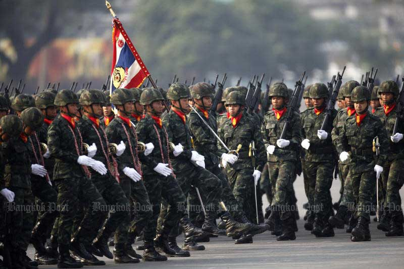 The armed forces plan to trim the number of generals in its ranks by 25% by 2029. (Bangkok Post file photo)
