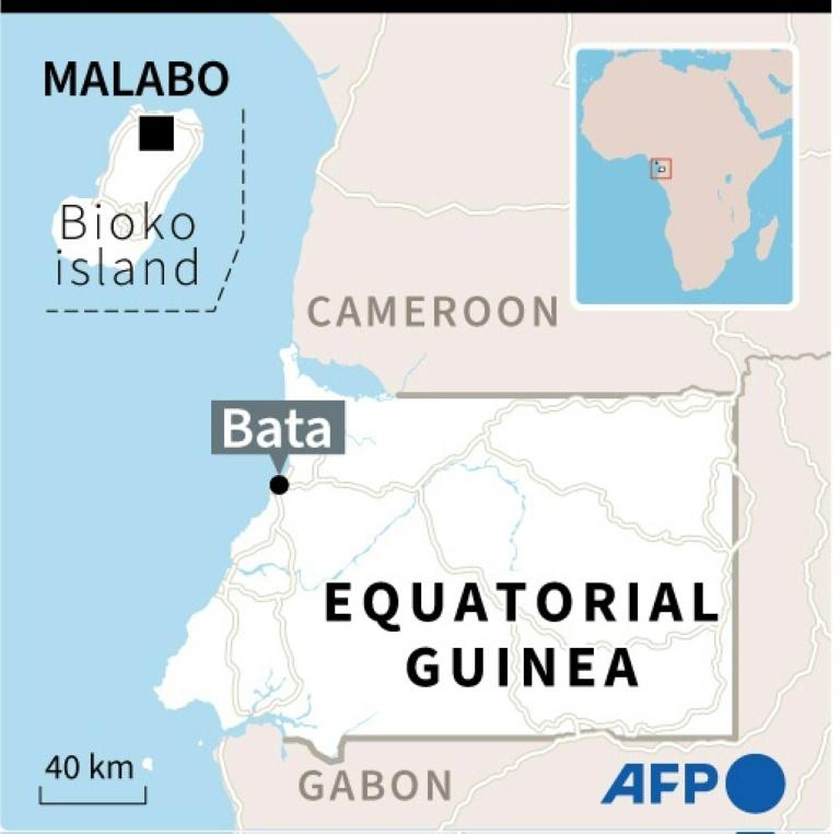 Map of Equatorial Guinea locating Bata.