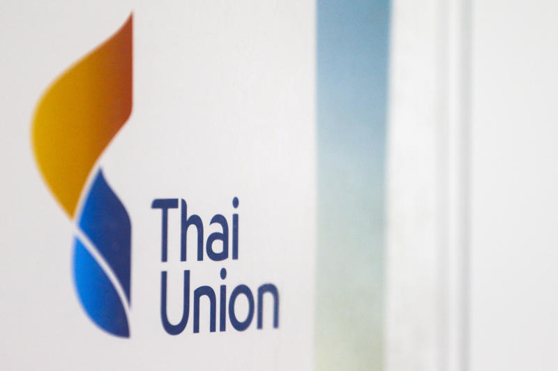 FILE PHOTO: The logo of the Thai Union Group is pictured at its R&D lab in Bangkok, Thailand, March 31, 2016. (Reuters)