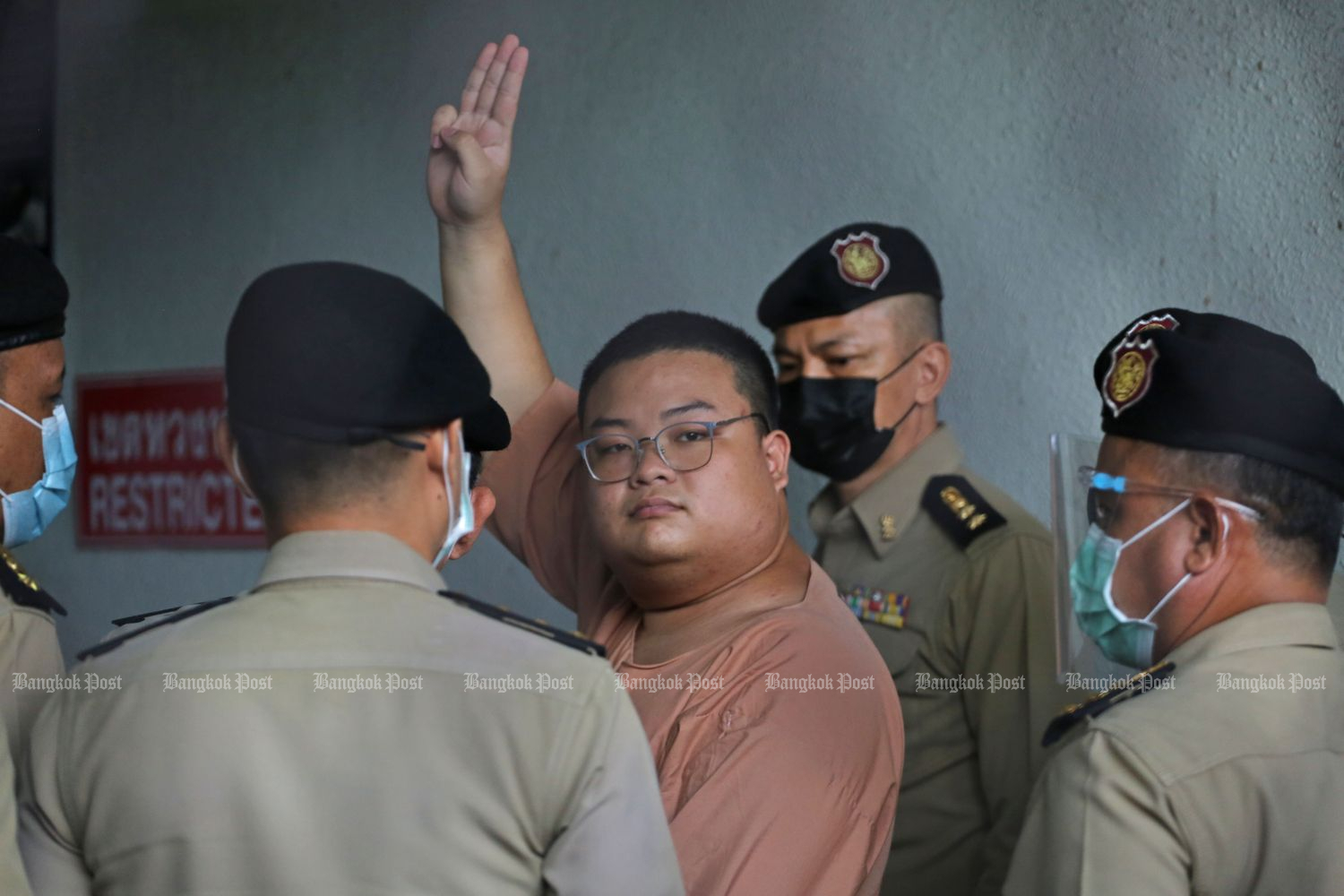 Arrested anti-government protester Parit