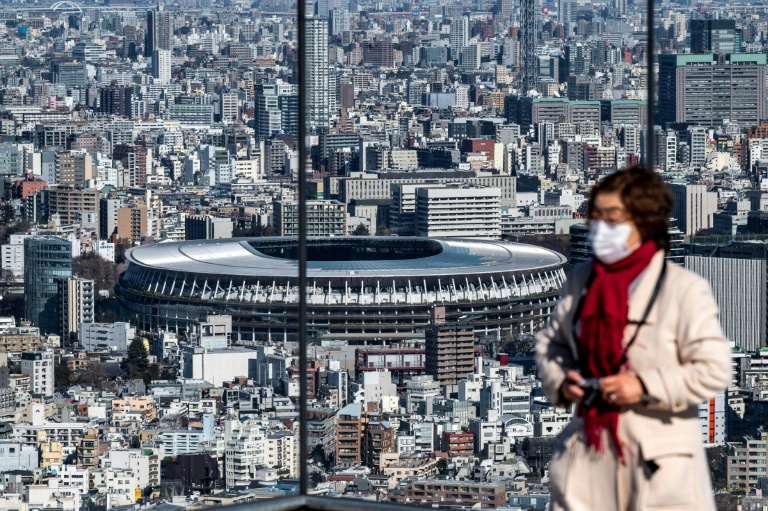 The National Stadium (seen from the Shibuya Sky observation deck) is the main venue for the much-delayed Tokyo Games. (AFP Photo)