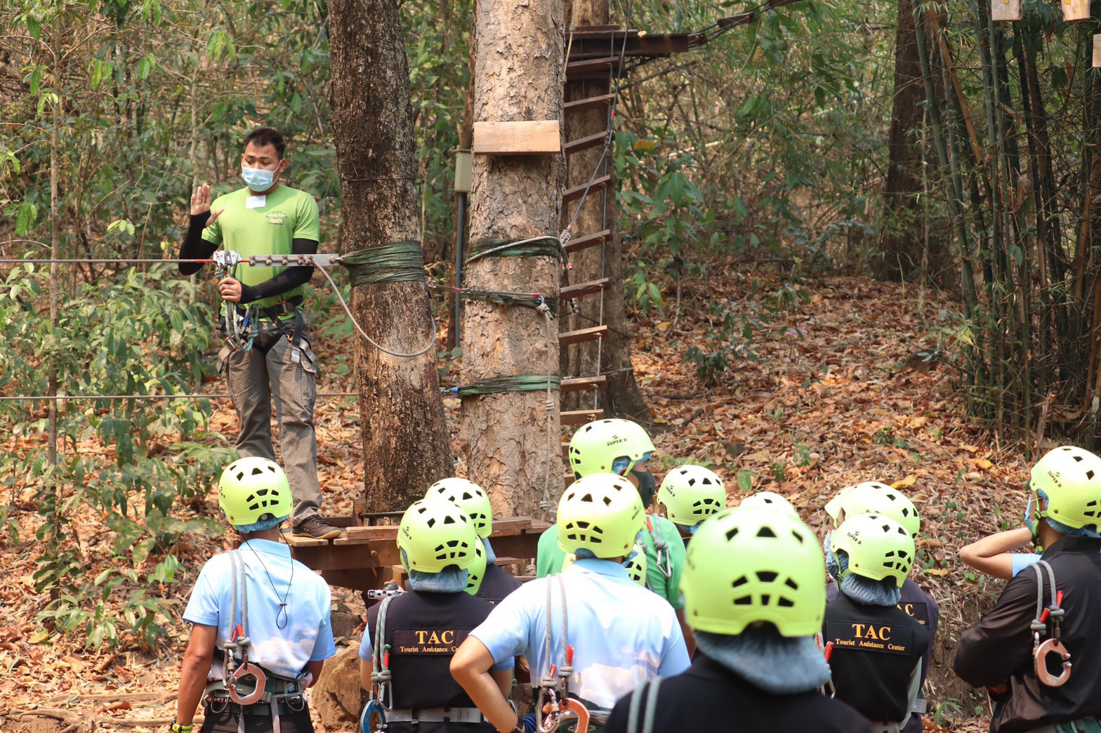 Safety standards for land tourism, adventure sport and ziplining activities are needed. (Kasetsart University photo)