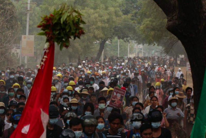 Thousands take to Myanmar streets again after bloodiest day since coup