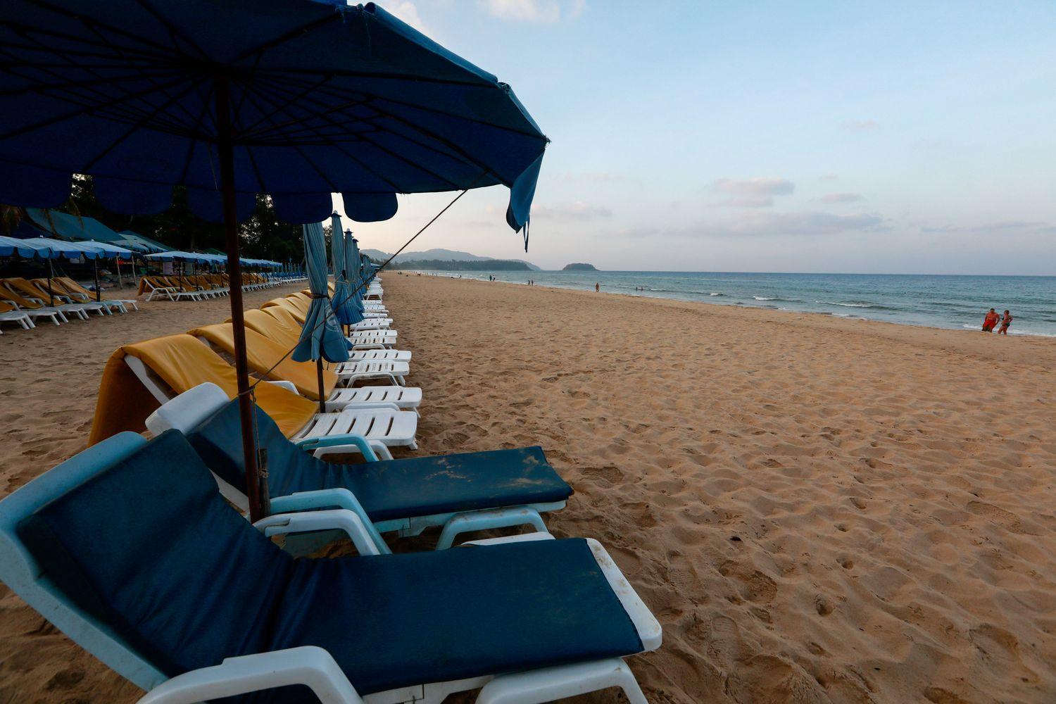 Empty chairs are seen on a beach which is usually full of tourists amid fear of coronavirus in Phuket on March 11. (Reuters photo)