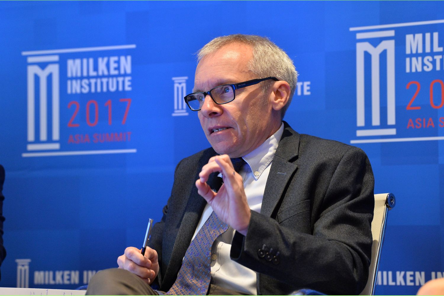 Sean Turnell, the economic adviser to Myanmar's elected leader Aung San Suu Kyi, is seen at the Milken Institute 2017 Asia Summit in Singapore, in this September 30, 2017 handout photograph. (Milken Insititute/Handout via Reuters)