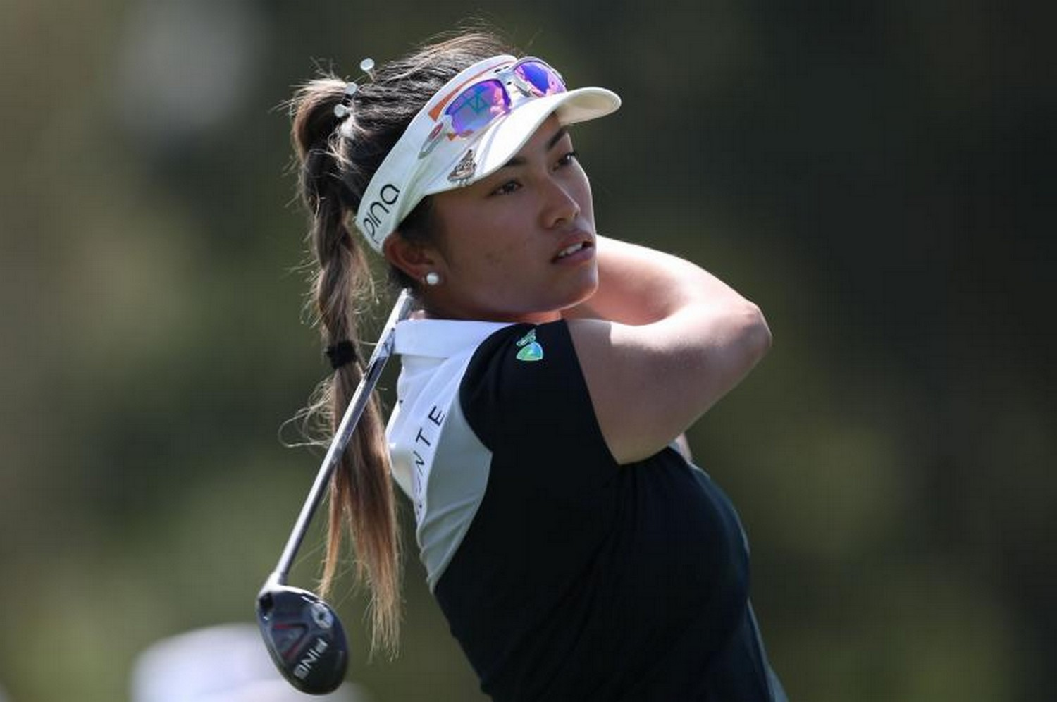 Patty Tavatanakit of Thailand tees off on the 5th hole during round one of the ANA Inspiration at the Dinah Shore course at Mission Hills Country Club on Thursday. (Photo: Getty Images/AFP)