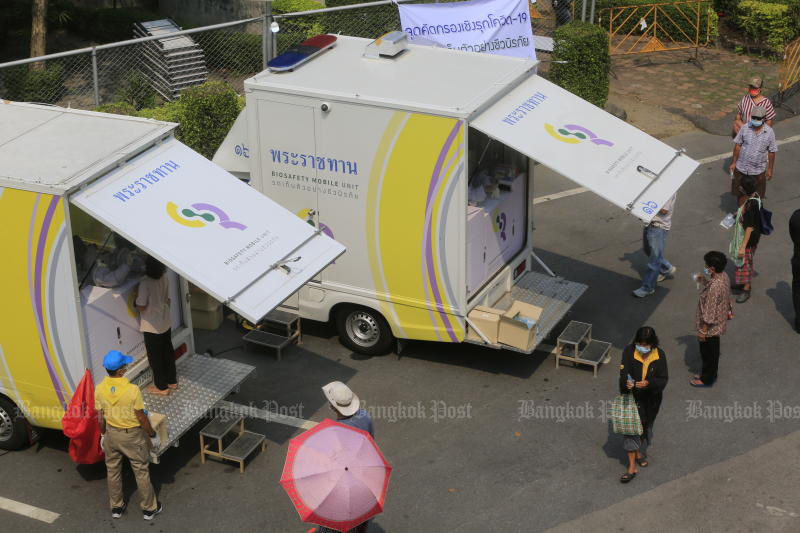King sends mobile virus testing vehicle to Narathiwat prison