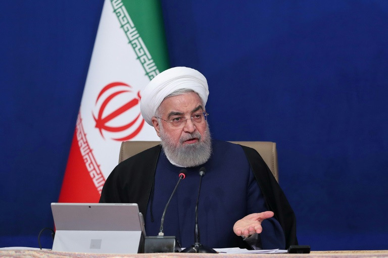 Iranian President Hassan Rouhani gives an upbeat assessment to his cabinet of Tuesday's opening round of nuclear talks in Vienna