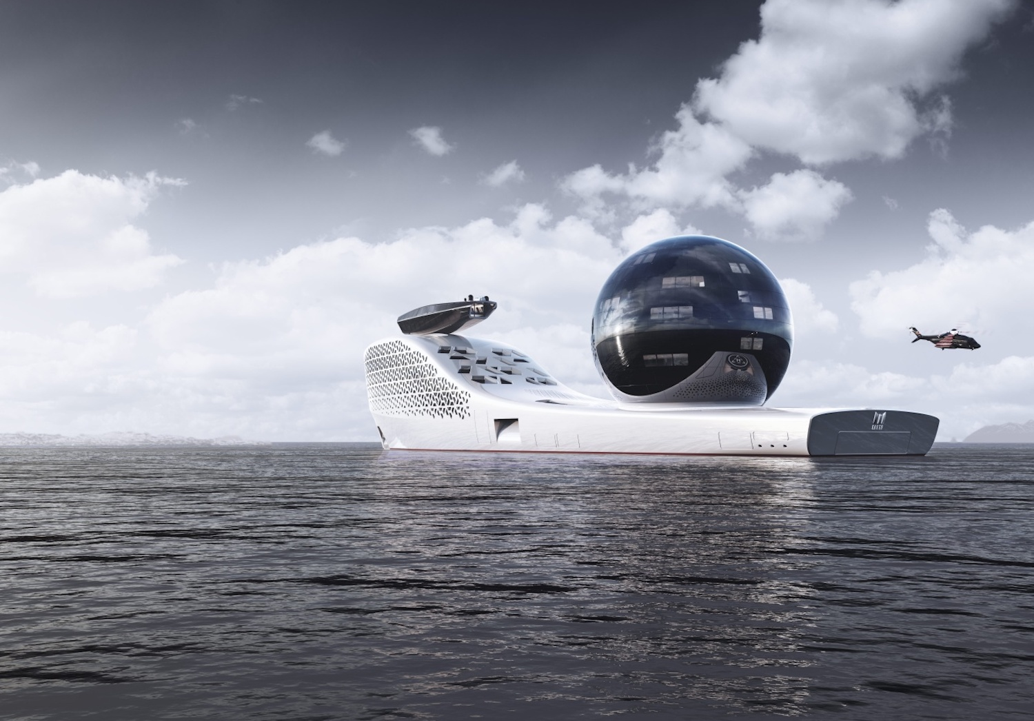 """An artist's rendering shows the Earth 300, with its 13-storey glass """"science sphere"""". (Photo by Earth 300 via Bloomberg)"""