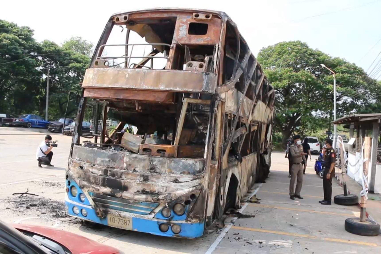 Driver of fatal-fire tour bus charged