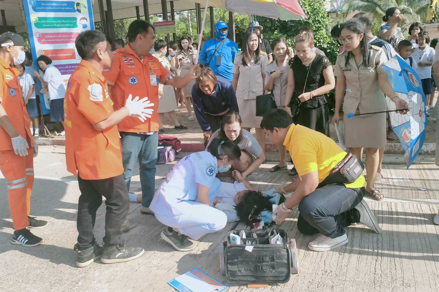 "Medics perform CPR on Natcha ""Nong Milk"