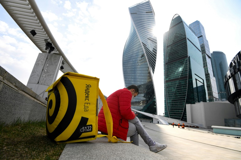 From Moscow to New York, fast delivery takes off amid pandemic