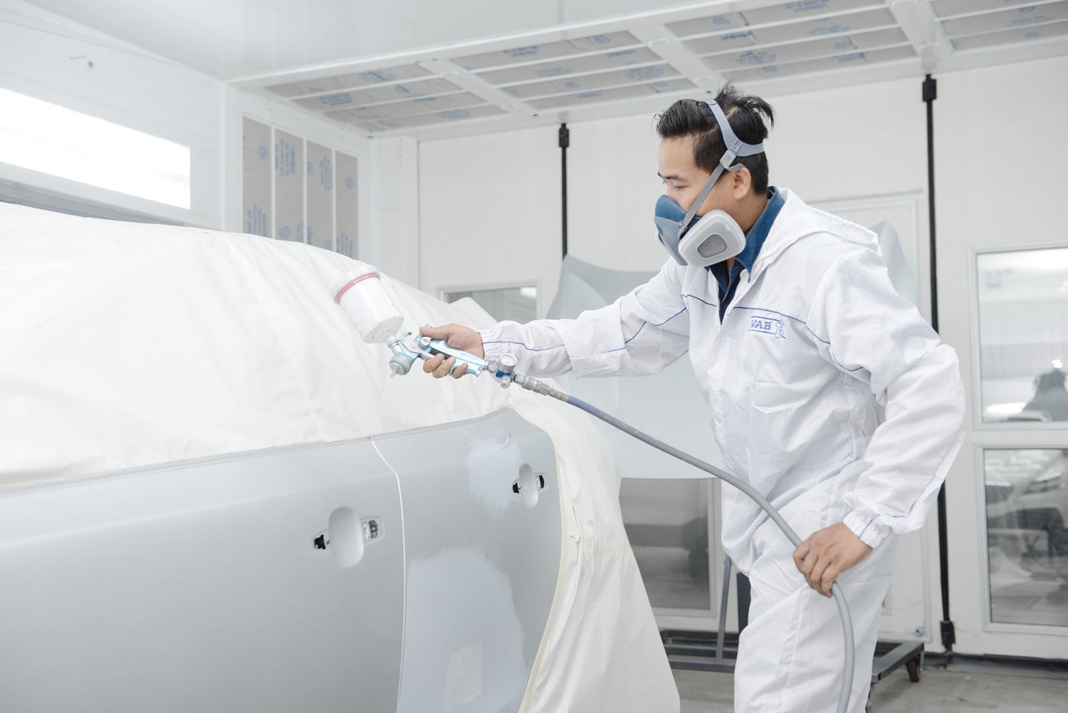 "Volvo launches plans to raise service center standards complete body repair and paint ""Volvo Certified Damage Repair Centre"""