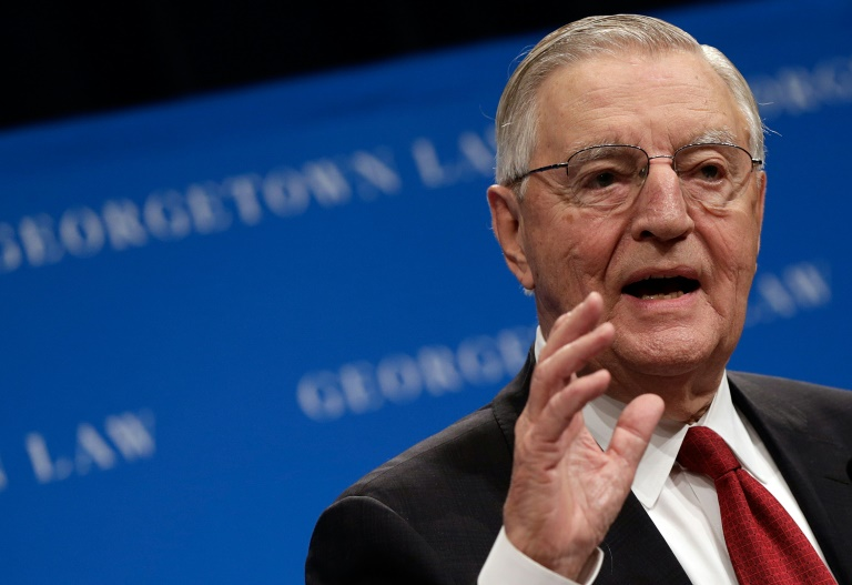 Former US Vice President Walter Mondale (pictured September 2013) died at age 93