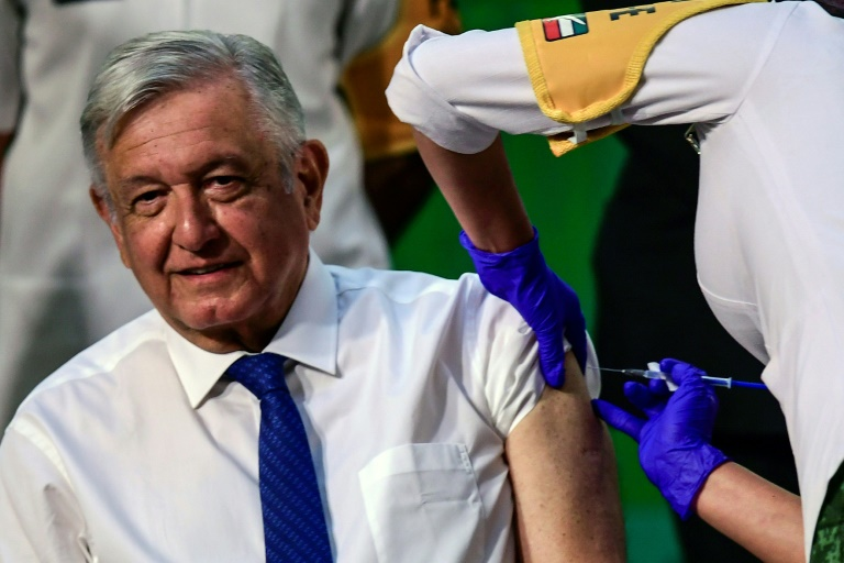Mexican president gets Covid vaccine, says 'no risk'