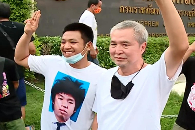 Activists Somyot, Pai Dao Din walk free on bail