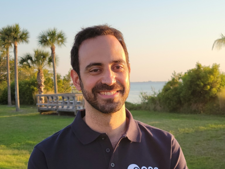 European Space Agency flight surgeon Adrianos Golemis, in Cape Canaveral, Florida.