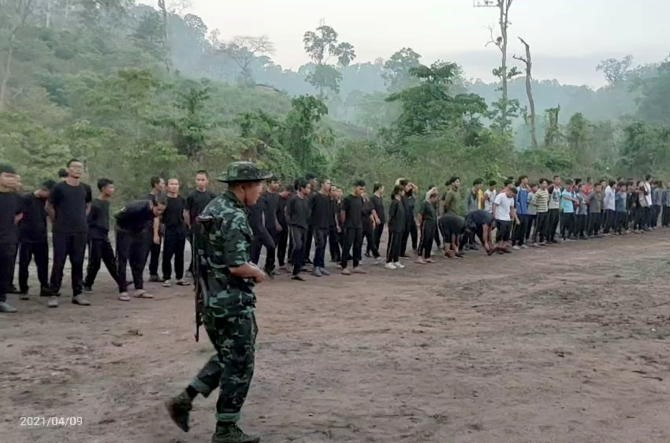 Myanmar protesters join new armed force near Thai border