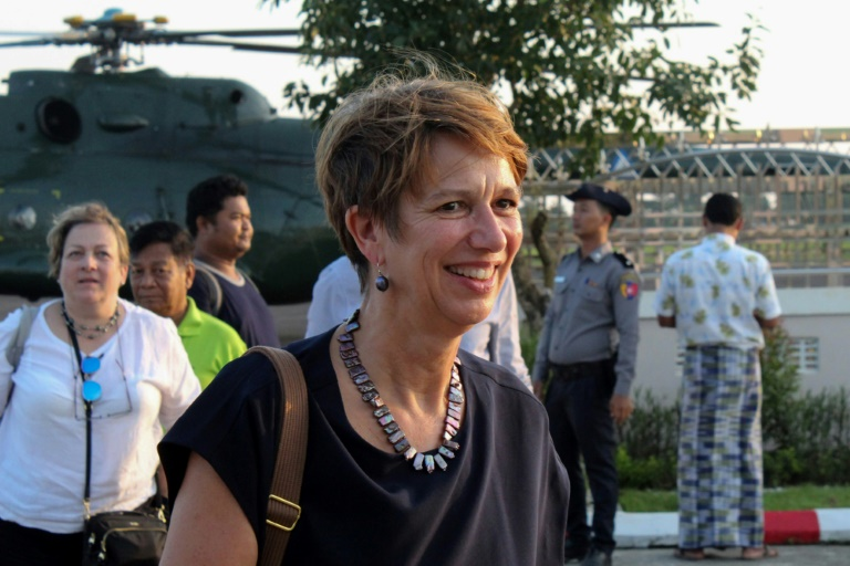UN Special Envoy to Myanmar Christine Schraner Burgener met with Myanmar junta leader Gen Min Aung Hlaing on the sidelines of an Asean meeting.