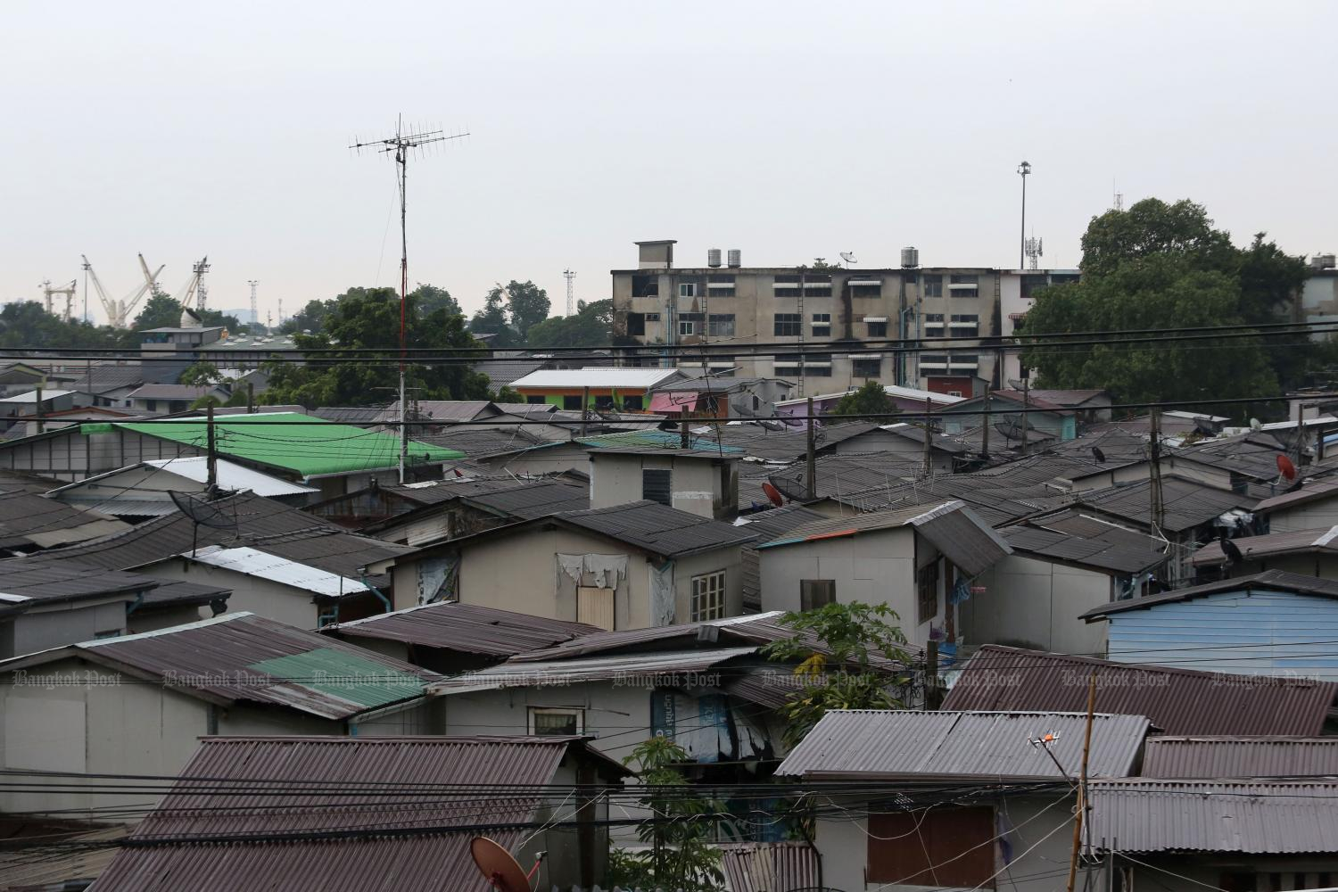 Bangkok's Klong Toey district, where a surge in Covid-19 infections has sparked fears of a super-spreader hub.Wichan Charoenkiatpakul