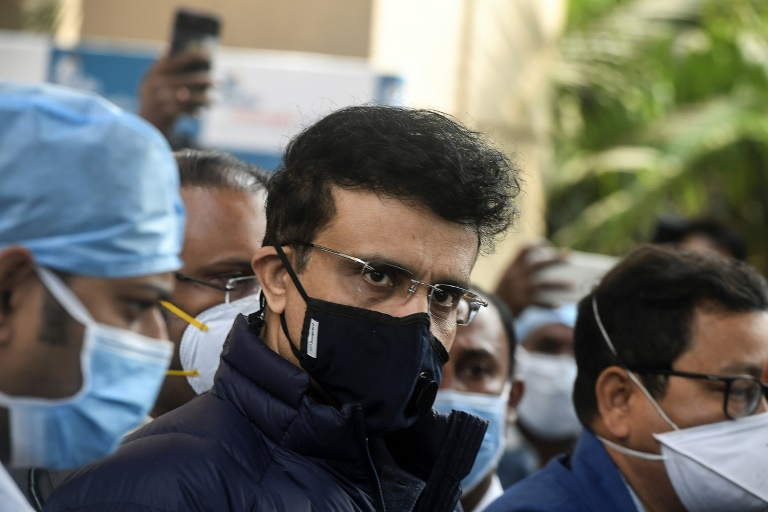 Indian cricket chief Sourav Ganguly (C) said the number of cases has gone