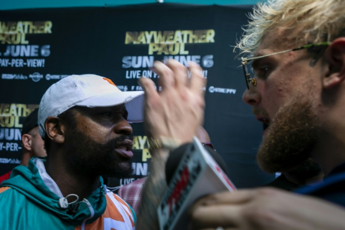 Brawl as Mayweather faces off with Youtube star Paul