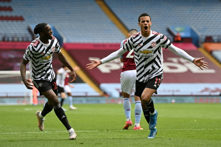 Man City's title party delayed by Man Utd win at Villa