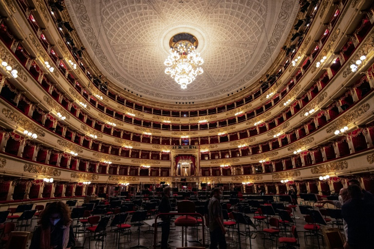 Tears of joy as Milan's La Scala opera house reopens to public