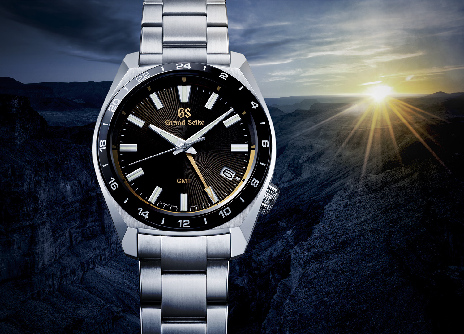 A Grand Seiko quartz GMT watch celebrates the 140th anniversary  of the company's foundation