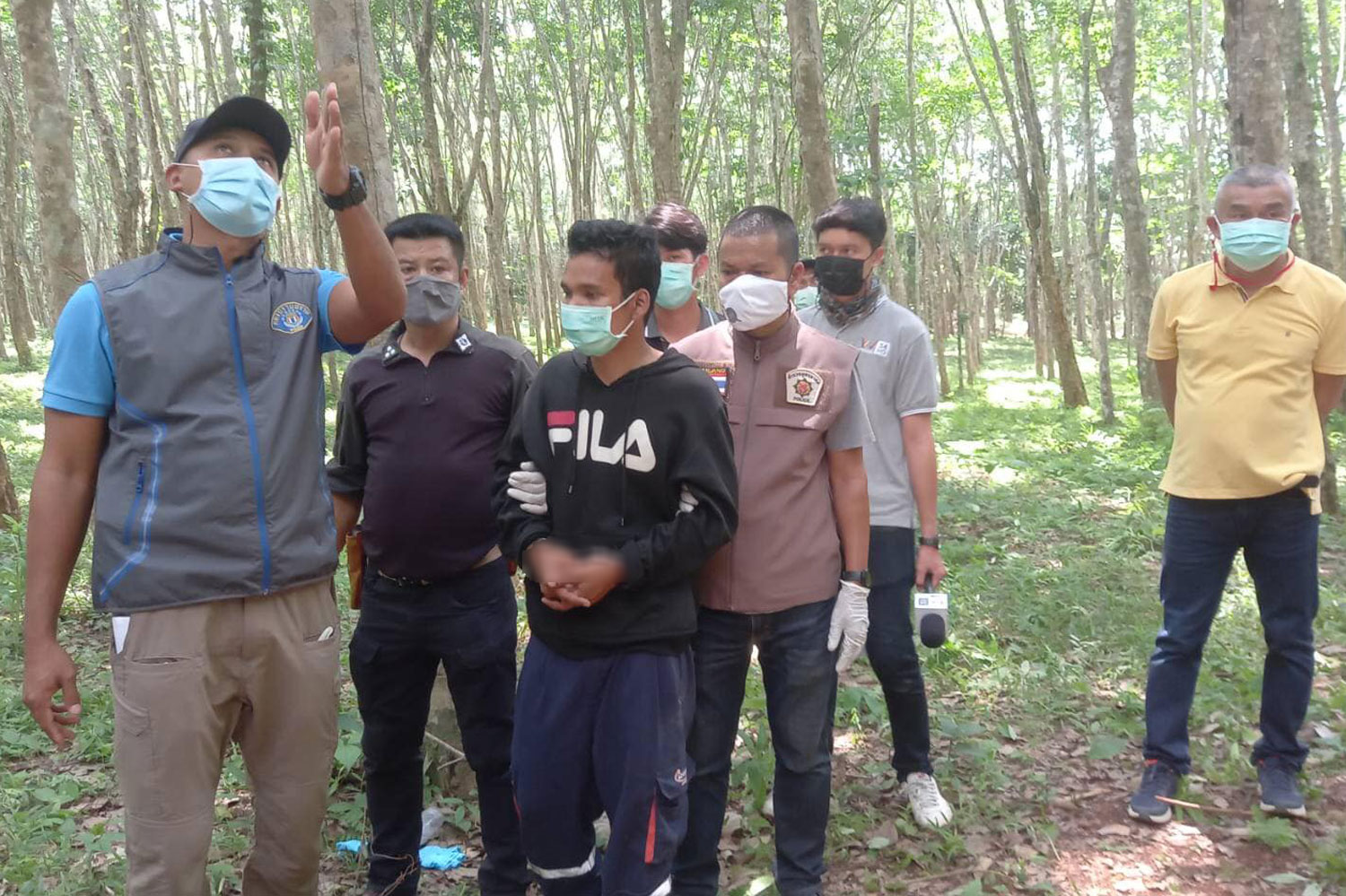 One of three Krabi murder suspects surrenders