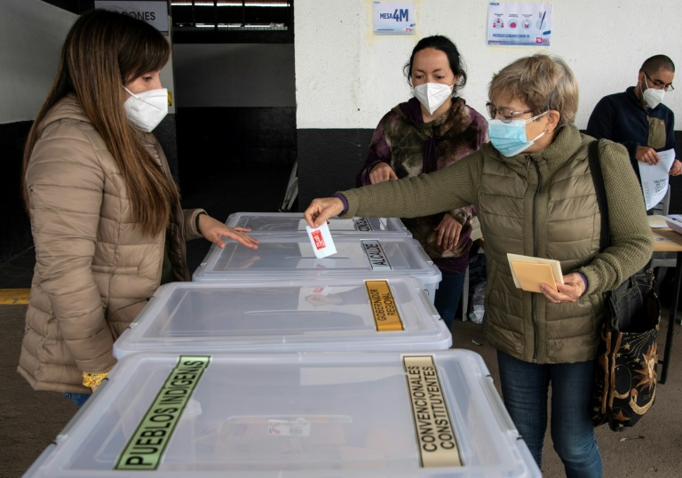 Chileans vote for body to rewrite dictatorship-era constitution