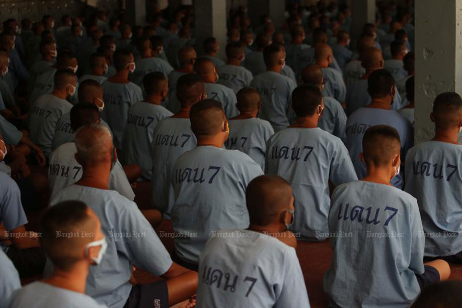 Inmates at the Central Correctional Institute for Drug Addicts attend an occupational training session on Aug 13 last year. (Bangkok Post file photo)