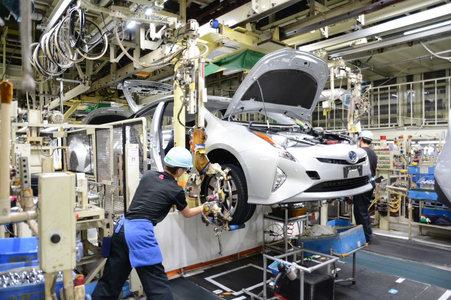 Toyota Prius' assembly line at the Tsutsumi plant in Aichi, Japan, in 2016. The model is at the centre of a tax case in Thailand and a foreign corrupt practices probe involving Thai judges in the US. (Toyota Motor Corp photo)
