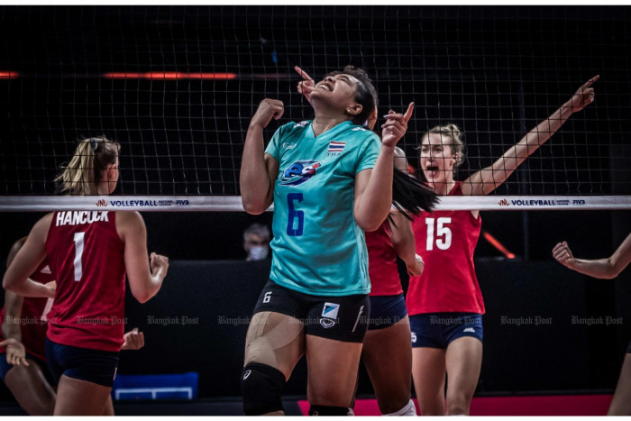 Volleyball team suffer defeat and 'racist gesture'