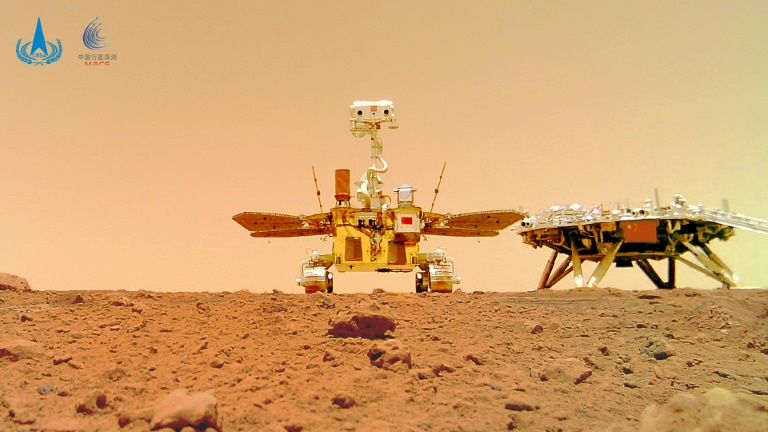 The Zhurong rover, named after a mythical Chinese fire god, has been studying the topography of a vast Martian lava plain known as the Utopia Planitia.