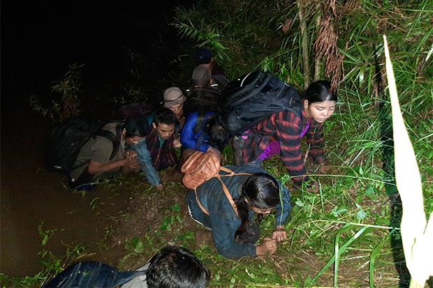 Myanmar border crossers caught in Mae Sot
