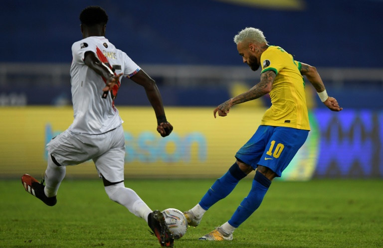 Emotional Neymar inspires Brazil into Copa quarters after Peru cruise