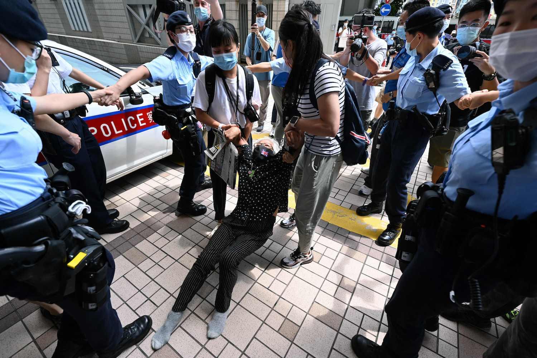 Hong Kong media execs denied bail