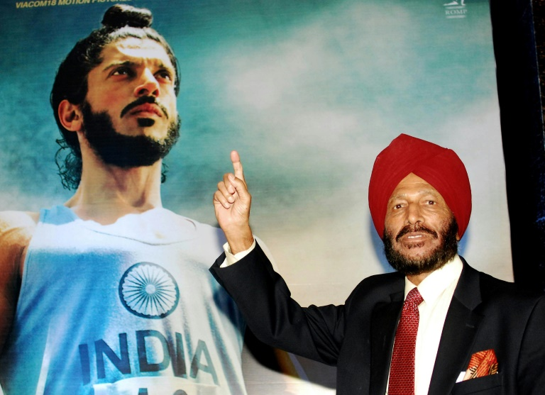 Milkha Singh, seen at the premiere of