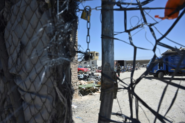 The Pentagon is vacating Bagram air base as part of the US troop withdrawal from Afghanistan, and tons of civilian equipment is being scrapped.