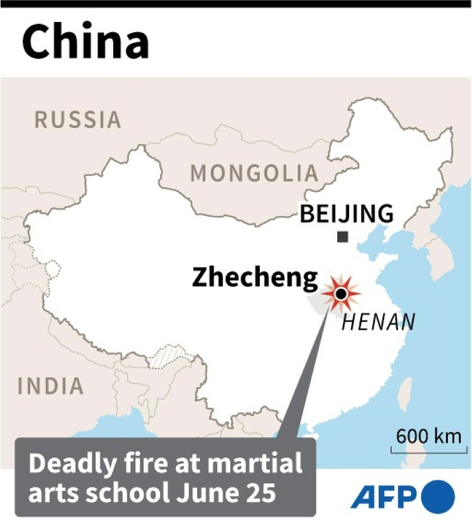Fire at China martial arts school kills 18, mainly children