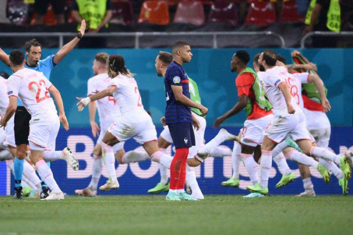 France stunned by Switzerland, Spain through to last eight on dramatic day at Euro 2020