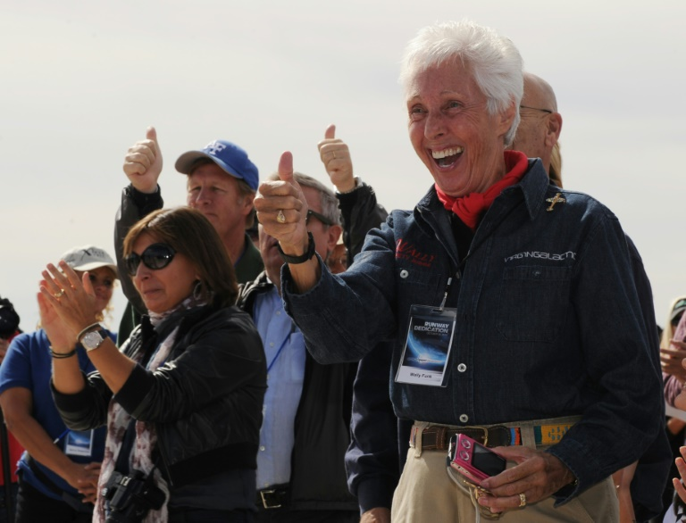 The flight will make Wally Funk, right, the oldest person ever to launch into space.